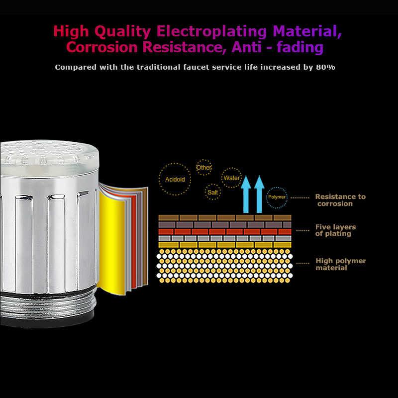 Lampa LED bateria wodna bateria prysznicowa umywalka dysza wodna kuchnia łazienka zmieniający kolory Glow dysza głowica prysznicowa Hot