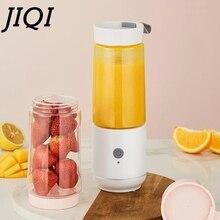 JIQI USB электрическая перезаряжаемая соковыжималка, мини-бутылка, блендер для овощей, фруктового сока, миксер для смузи, съемная чашка