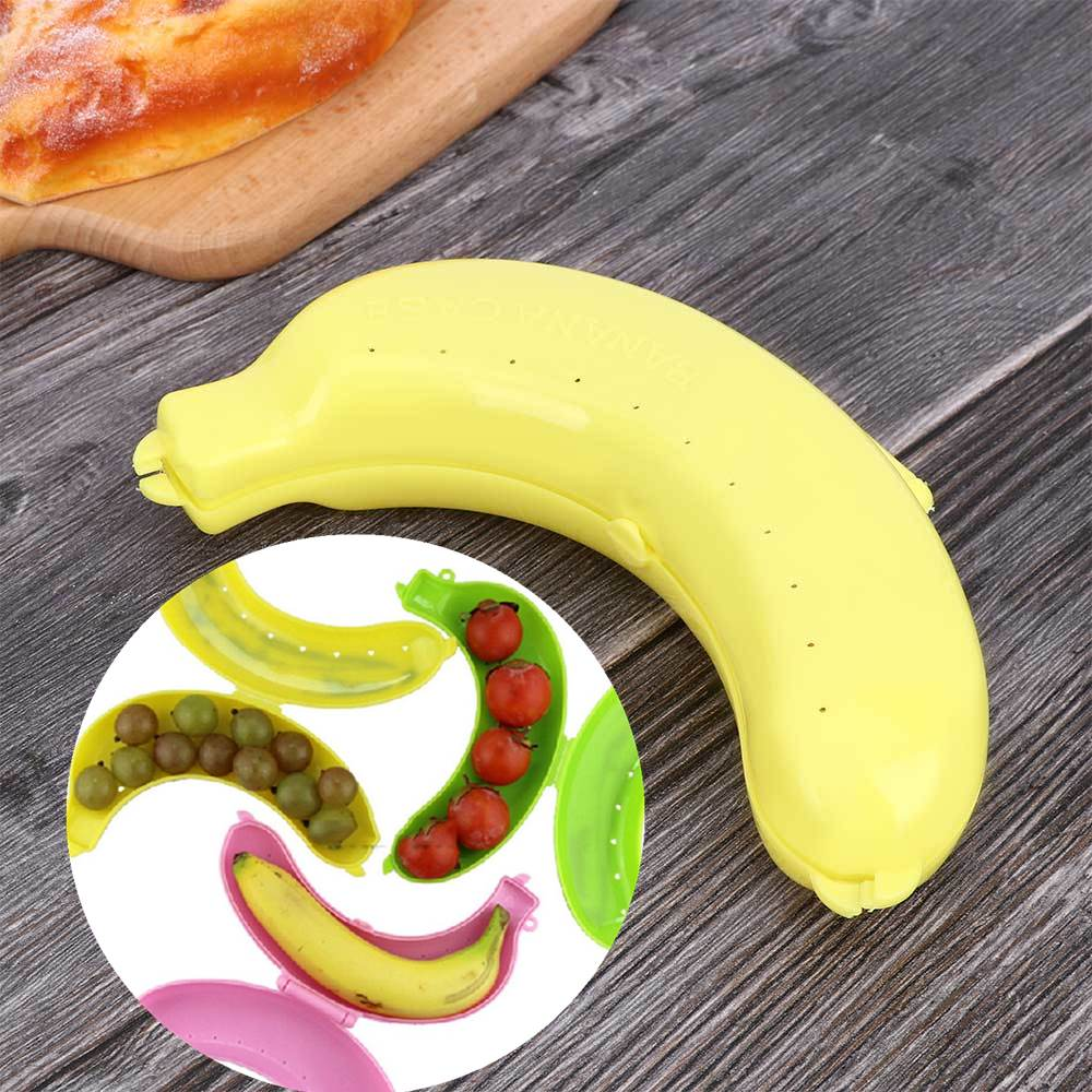 3x Banana Case Storage Protector Box Holder Case Cute Lunch Container Carrier