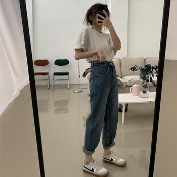 women Harem Pants Vintage High Waist Jeans Boyfriends Women's Jeans Full Length Jeans Cowboy Denim Pants Mujer ka932 basic denim jeans women high waist jeans vintage mom style straight jeans casual ankle length cowboy pants