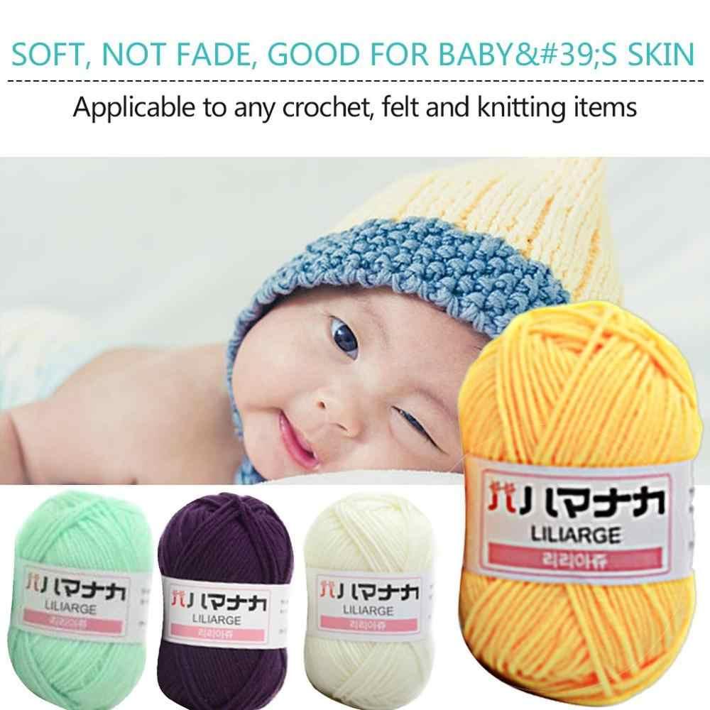 1 partes penteado leite algodão fio de lã confortável misturado fio vestuário costura fio mão tricô cachecol chapéu fio