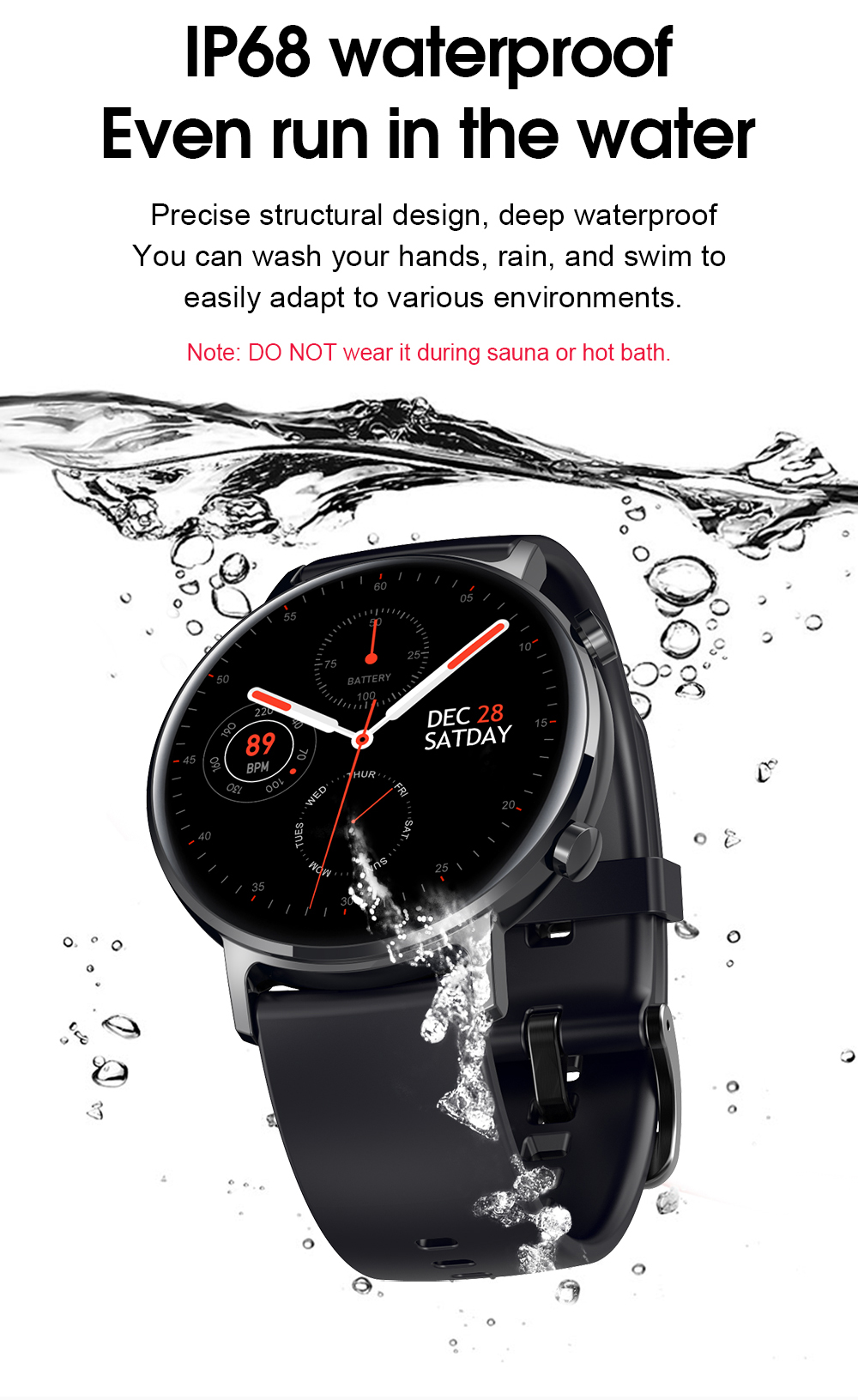 Relógio inteligente sg3 amoled round display resolução