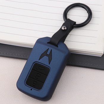 New ABS Carbon Fiber Silica Gel Car Key Case For Honda Accord Civic 10th Gen JADE VEZEL CRIDER CRV Keychain Interior Accessories image