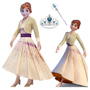 Платье принцессы Эльзы для костюмированной вечеринки «Холодное сердце 2»; Платье принцессы Анны; Вечерние платья для девочек; Vestidos Fantasia; Дет...