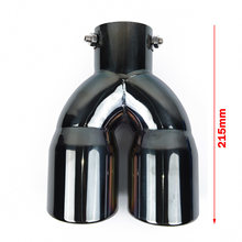 63mm Auto Double-Barrel Black Rear Dual Exhaust Pipe Tail Tip Muffler Universal(China)