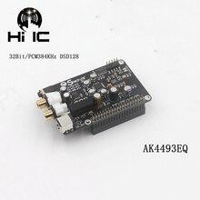 R93 ak4493 i2s 32bit/384 khz dsd128 디코더 dac hifi 오디오 디지털 플레이어 네트워크 플레이어 보드 (라스베리 파이 용)