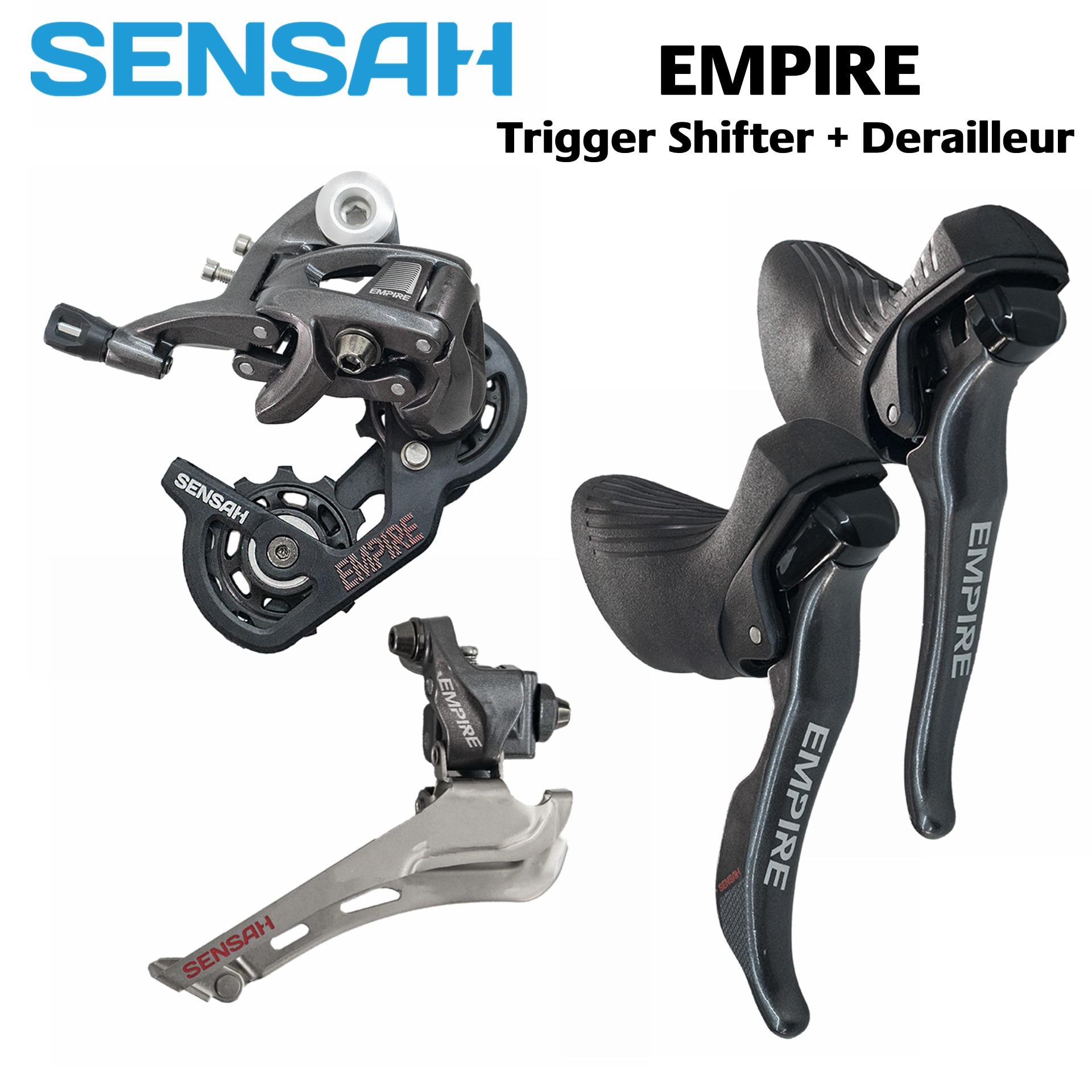 SENSAH групset SENSAH EMPIRE 2x11 Speed, 22s Road Groupset, переключатель передач + задние переключатели + передние переключатели, красный, force, Rival