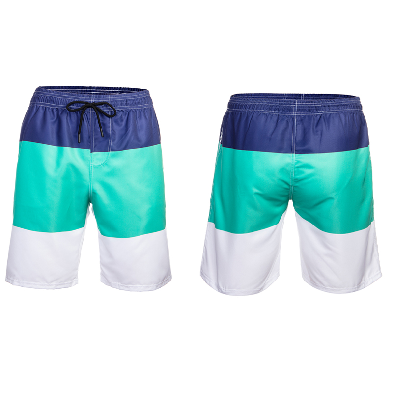 Summer Holiday Men's Surf Beach Shorts Quick Dry Board Shorts For Men Leisure Swim Casual Pool Running Stitching Fashion Shorts