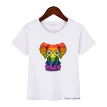 Летние Новые забавные ретро топы для девочек футболка с коротким