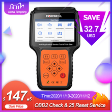 Foxwell Escáner de diagnóstico automotriz para automóvil, lector de código profesional nT650 Elite, con estándar OBD y OBD2, herramienta para reseteo, aceite, ABS, SRS y DPF