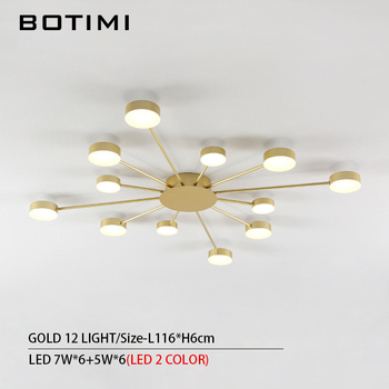 BOTIMI Novelty Metal Irregular Ceiling Lights For Foyer Black Ceiling Lamp Golden Surface Mounted Bedroom Lighting Fixture 7