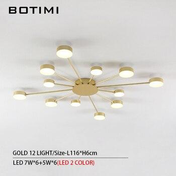 BOTIMI Novelty Metal Irregular Ceiling Lights For Foyer Black Ceiling Lamp Golden Surface Mounted Bedroom Lighting Fixture 7