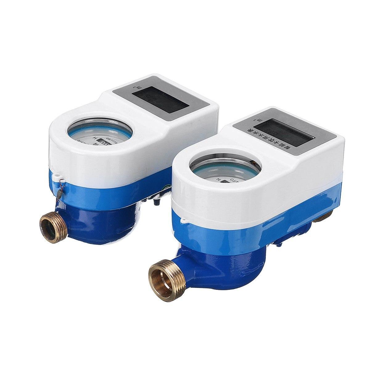 15/20mm sans fil intelligent compteur d'eau froide cuivre robinet de mesure maison jardin compteur rotatif compteur d'eau froide Table outils de mesure