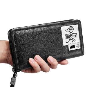 Image 1 - Orabird длинный женский кошелек, 100% натуральная кожа, сумка для денег, дневной клатч, сумки с отделением для карт, стандартные Модные женские кошельки для телефона
