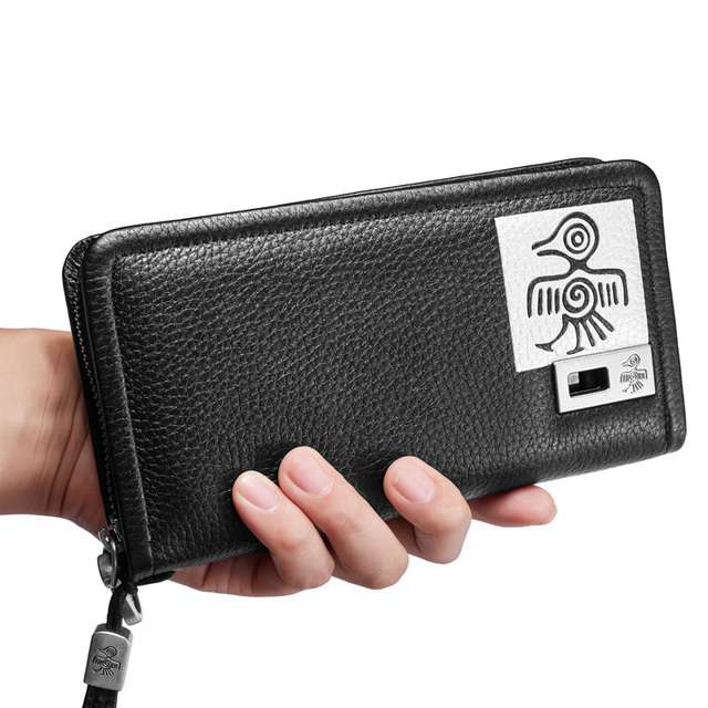 Orabird Long Women Wallet 100% Real Genuine Leather Money Bag Day Clutch Bags Card Holders Standard Fashion Ladies Phone Purses