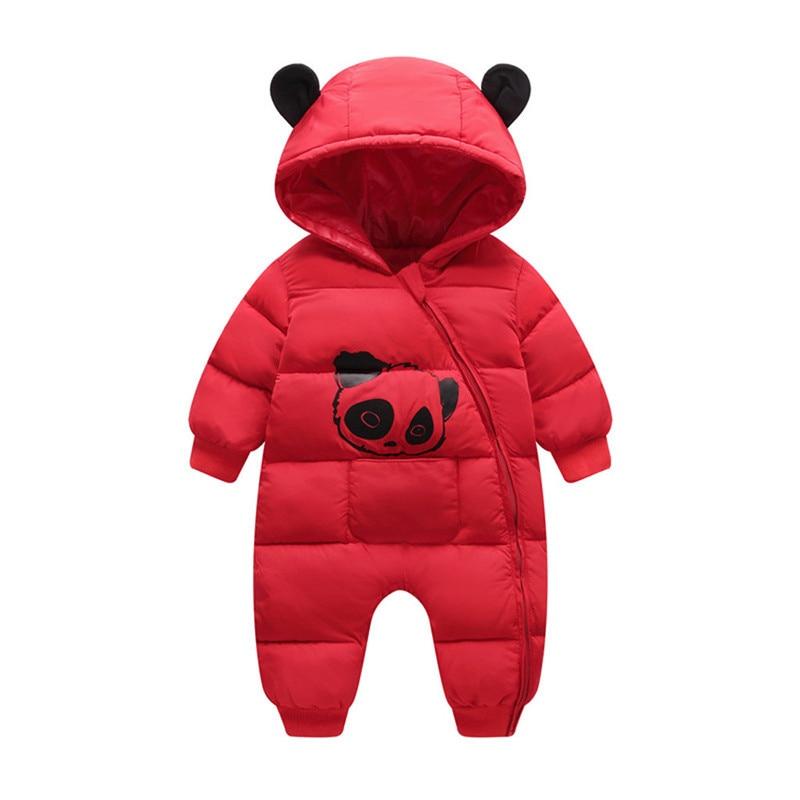 Baby jumpsuit down jacket Newborn Baby Boy Girl Cartoon Winter Warm Thick Jumpsuit Hooded Coat Outwear #4AA22 (7)