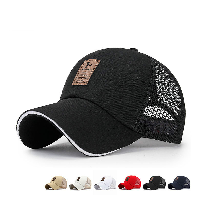 Summer Mesh Breathable Adjustable Baseball Caps For Women Men Casual Sports Hats Letter Bone Snapback Hat Caps Gorras Wholesale