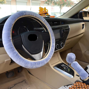 Image 3 - 3r Universal Steering Wheel Cover Plush Steering Wheel Car Steering Wheel Cover Cubre Volante Auto Winter        Car Accessories