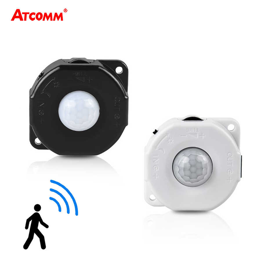PIR Motion Sensor Light Switch DC 5V-24V IR Automatic Movement Infrared Human Body Sensor Switch For Closet Kitchen Bathroom