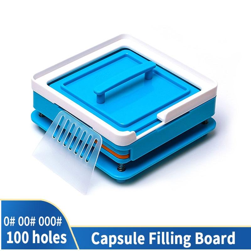 00 # 000 # 0 # 100 Hole Medicinal Powder Manual Food Grade Tool ABS DIY Board Capsule Dispenser Capsule Fast Filling Machine