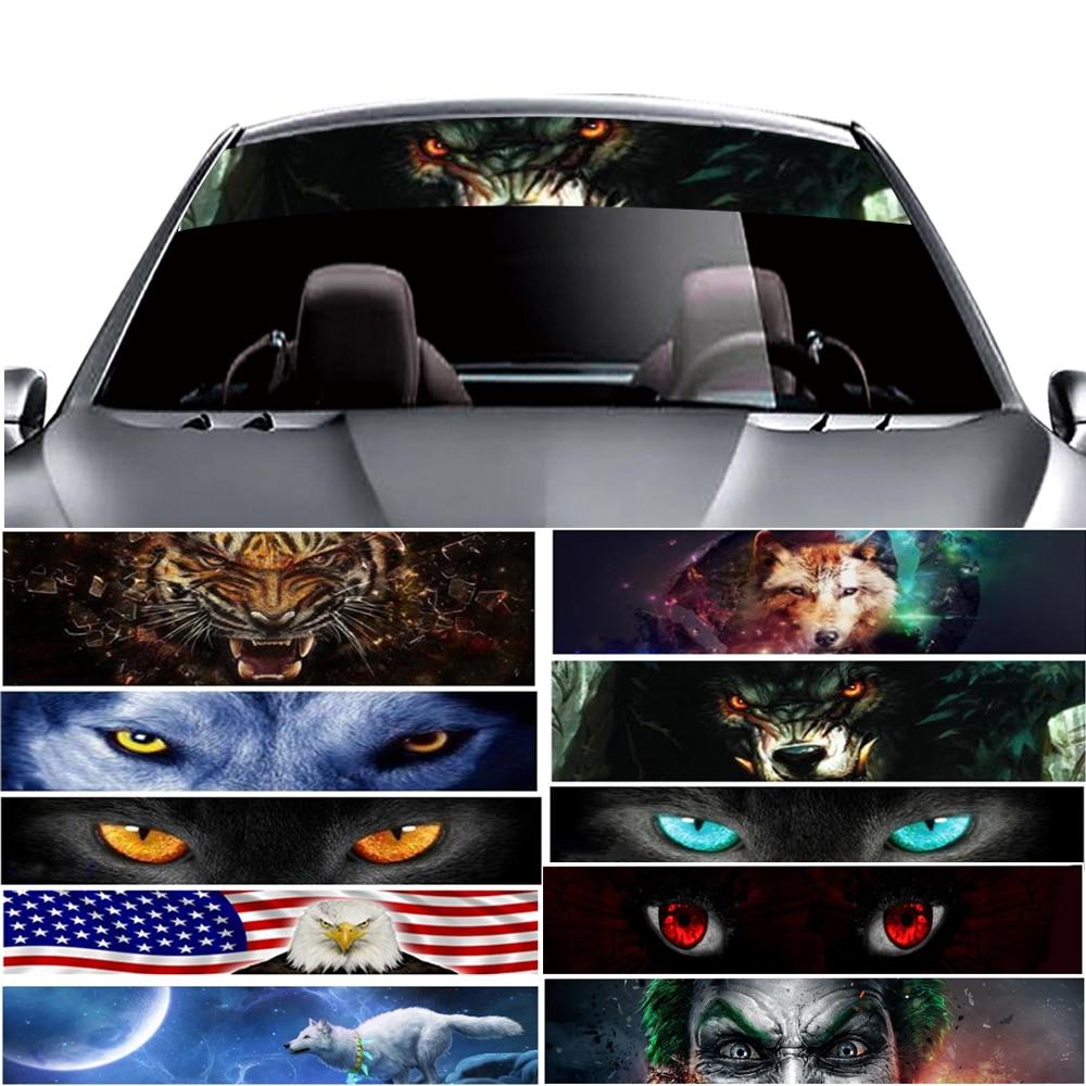 3D Windshield Sticker 137x21cm Thriller Car Front Window Solar Film Tints Foils Top