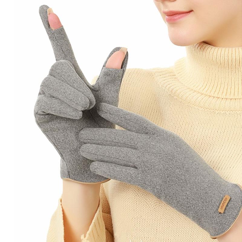 German velvet warm gloves Mittens women's winter plus velvet thickened not afford the ball gloves fashion touch screen gloves