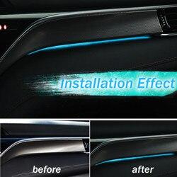 Car Interior LED Decorative Light Center Console Atmosphere Light Blue For Toyota Camry 2018
