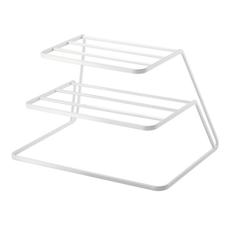 New 2 Layers Stainless Steel Dish Rack Kitchen Dish Drainer Cup And Dish Organizer Stand Dish Holder