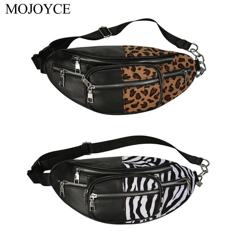 Pouch Fanny-Pack Leopard Street-Leather Zebra-Pattern Girls Women Bags Shoulder-Chest-Belt