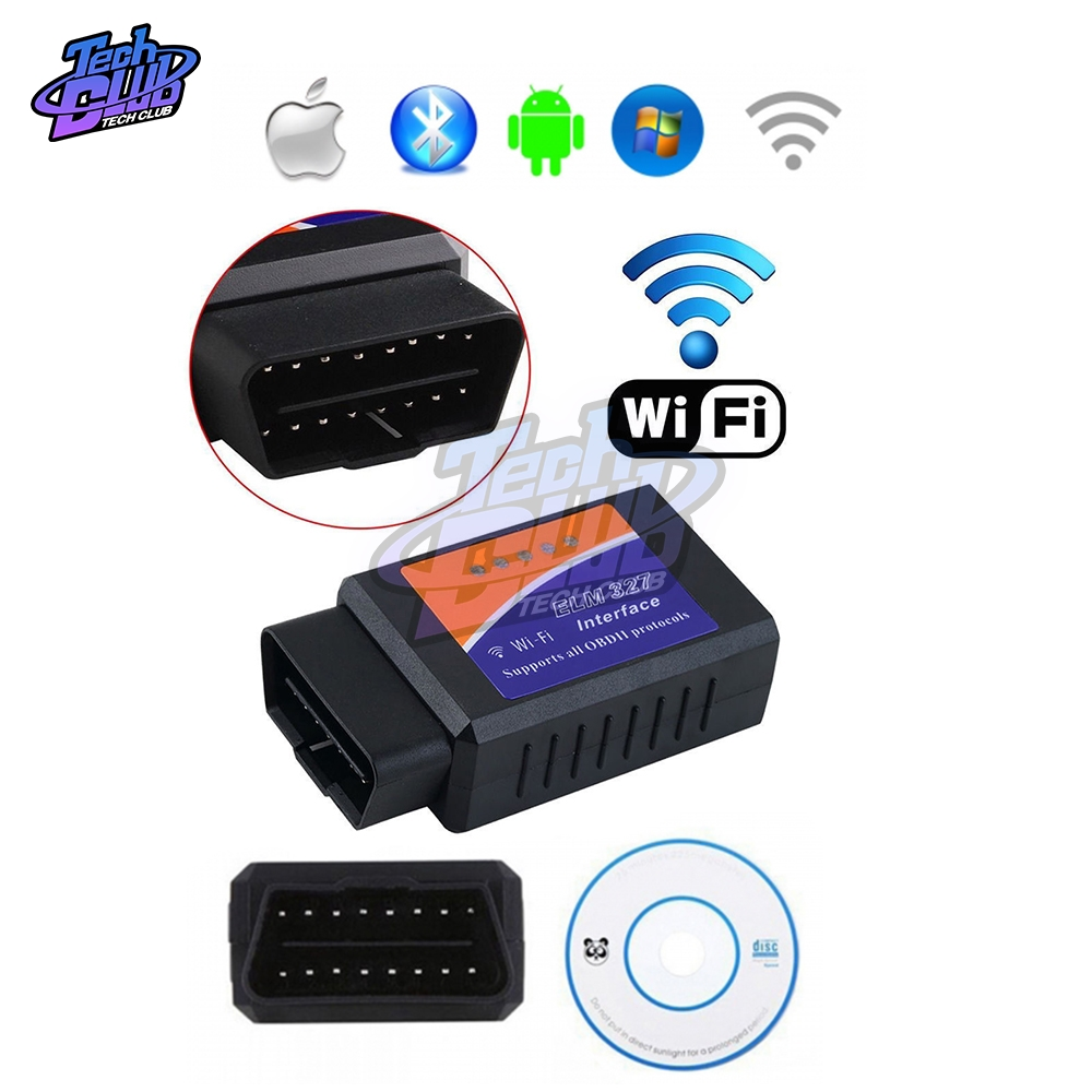 <font><b>ELM327</b></font> WIFI V1.5 OBD2 Car Diagnostic Scanner Best <font><b>Elm327</b></font> <font><b>WI</b></font>-<font><b>FI</b></font> Mini ELM 327 V <font><b>1.5</b></font> OBDII for Android iOS Diagnostic Tool image