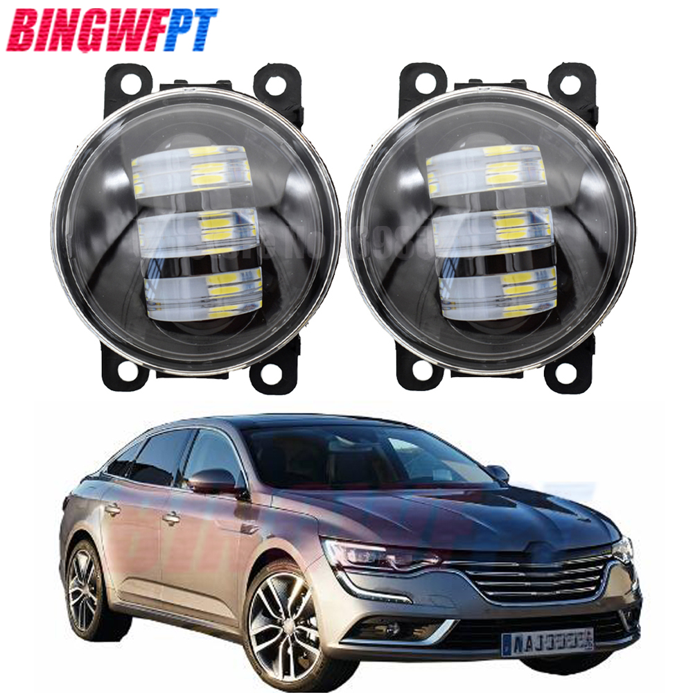 2pcs Fog Lamp Assembly <font><b>LED</b></font> Fog Lights For <font><b>Renault</b></font> Duster <font><b>Captur</b></font> Clio Koleos Scenic Twingo Latitude Fluence Kadjar Kwid Lodgy image