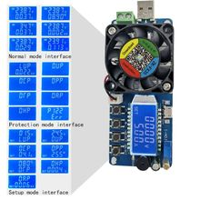 Electronic Load USB Load Tester 35W Constant Current Battery Capacity Tester