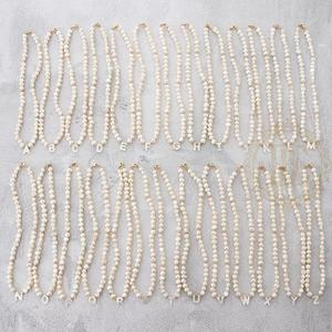One Fashion Jewelry Fresh Water Pearl and Shell Letter Necklace - 415mm (AE190)