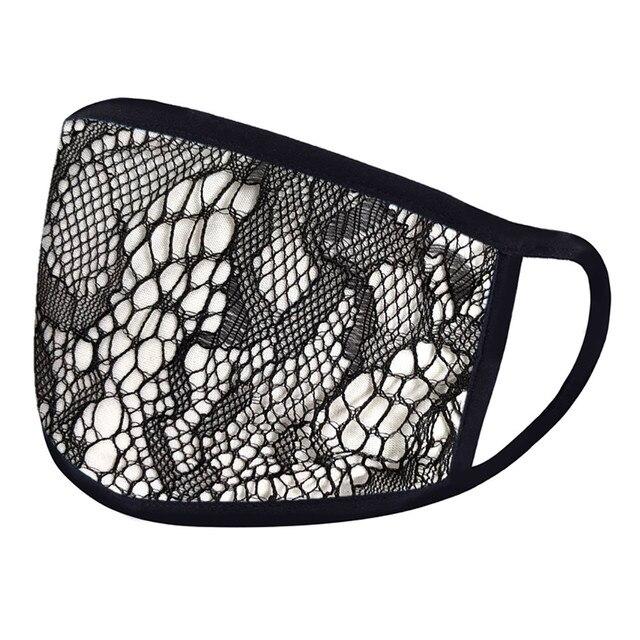 4PC Women Dust Sand Sunscreen Applique Face Cycling Breathable Mask Cotton Dustproof Anime Cartoon Kpop madque lavable#w 5