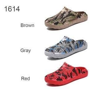 Image 4 - Scarpe da zoccolo da giardino Clax per uomo pantofole da spiaggia estive ad asciugatura rapida sandali da esterno traspiranti piatti scarpa da giardinaggio maschile