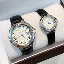PABLO RAEZ échelle romaine haut reloj mujer conception classique loisirs hommes femmes montres de luxe en cuir bleu Quartz mode amant montre