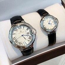 パブロ · RAEZ ローマスケールトップリロイ mujer クラシックデザイン leiseure メンズ女性の腕時計高級革ブルークォーツファッションの恋人の腕時計