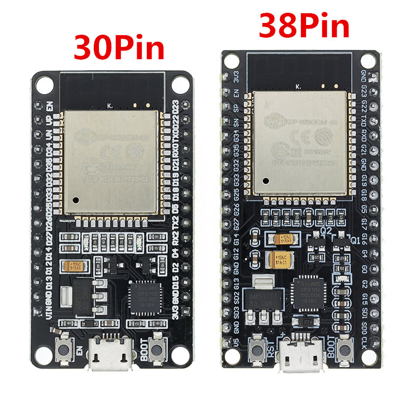 1PCS ESP32 Development Board WiFi+Bluetooth Ultra-Low Power Consumption Dual Core ESP-32 ESP-32S ESP 32 Similar ESP8266