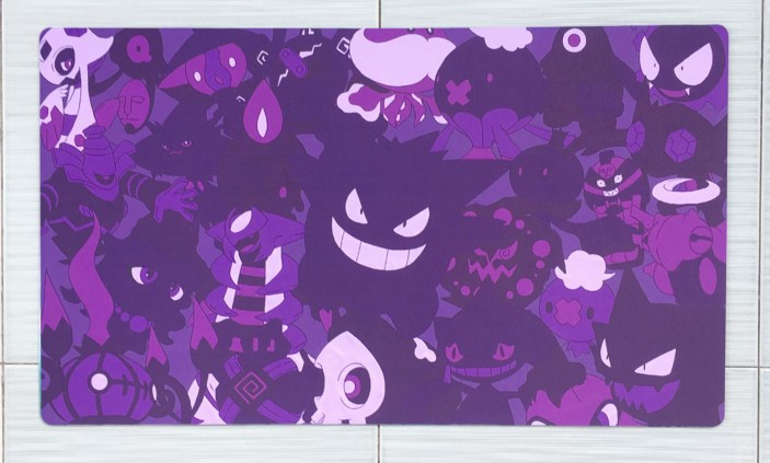 Takara Tomy PTCG Accessories Pokemon Card Board Game Playmat Gengar Toys For Children