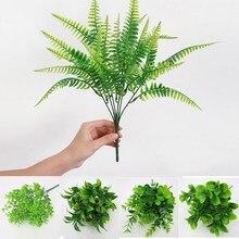 7 Branches herbe plantes artificielles Eucalyptus plastique fleurs fausses plantes mariage fleur Arrangement noël Table maison décors