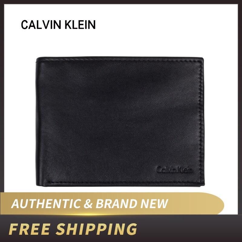 Authentic Original & Brand New Luxury Calvin Klein CK Leather Billfold Wallet 79220