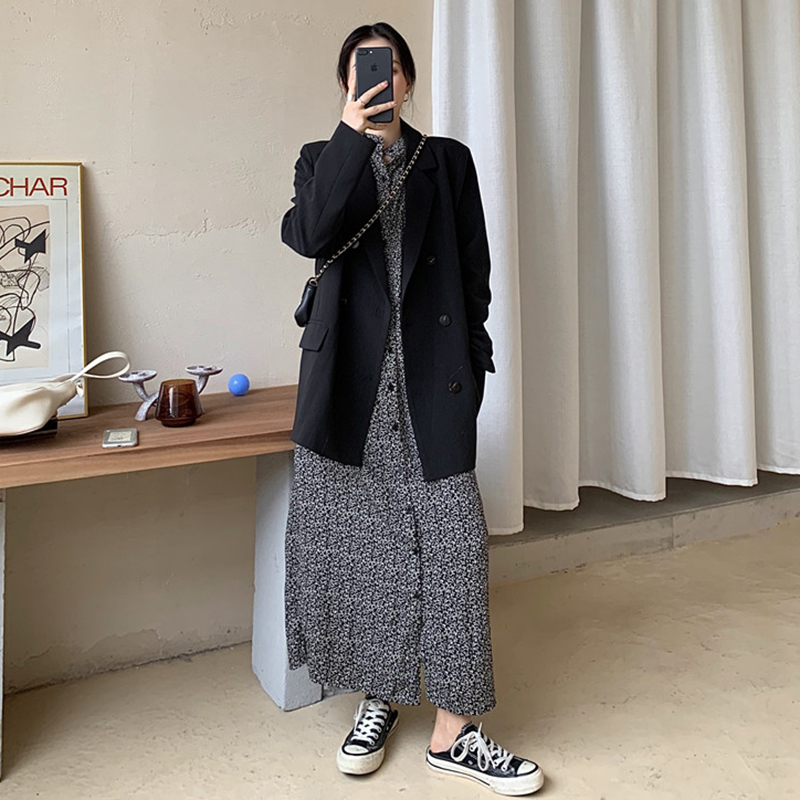 2020 New Hongkong Style Oversized Women Blazers and Jackets Long Sleeve White Casual Chaqueta Mujer Blazer Feminina