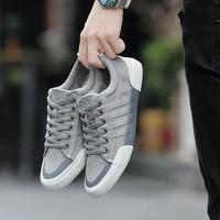 LettBAO/Новинка; Повседневная обувь; Мужская парусиновая обувь; однотонная мужская Вулканизированная обувь; кроссовки на шнуровке; Мужская обу...