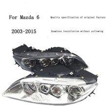 Автомобильный светильник в сборе для Mazda 6 M6 2003-, головной светильник в сборе, качественный заводской светодиодный головной светильник, аксессуары для HID