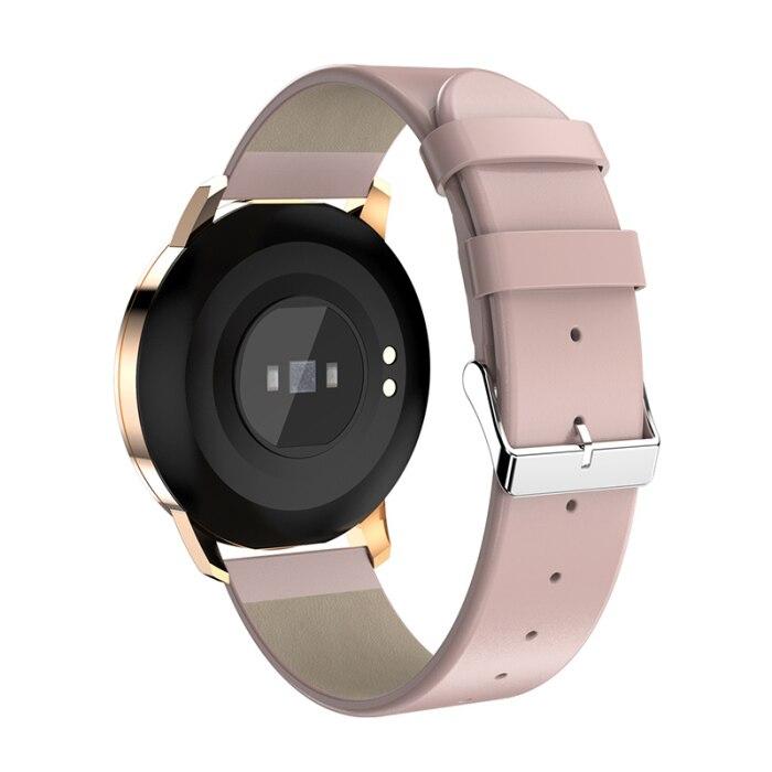 Inteligente pulseira de metal tela redonda à