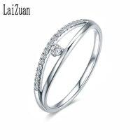 LaiZuan Solid 14K 585 White Gold Moissanite Ring for Women Lab Grown Moissanite Gorgeous Diamond Wedding Engagement Fine Jewelry