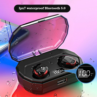 DaoLxi Bluetooth wireless headset Digital ess Power Display earbuds Earbuds Headset Touch Sports Stereo Cordless earphone