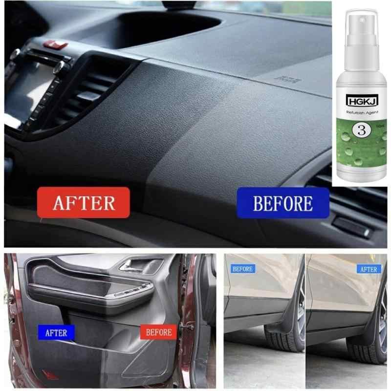 HGKJ-3 50 Ml Mobil Interior Kulit Kursi Plastik Perawatan Clean Detergent Refurbisher Penyegaran Cleaner Kulit Perawatan Sepatu