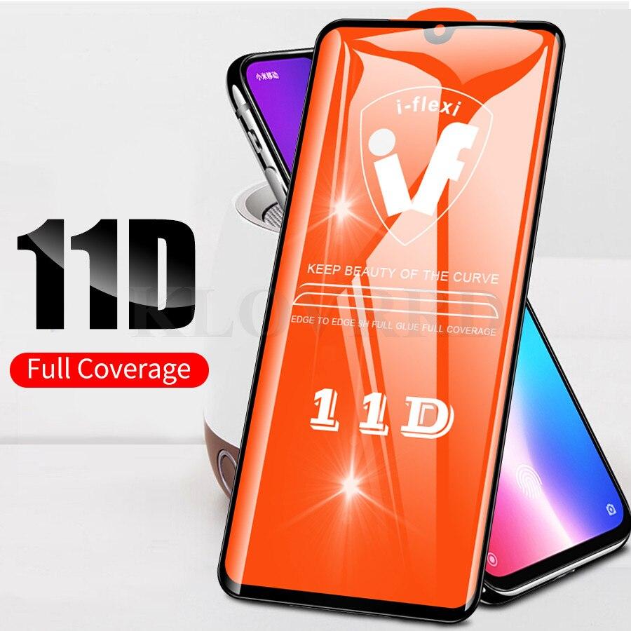 Xiaomi Mi CC9 11D Full Glue Cover Tempered Glass Mi CC9 8 9T 9 SE A2 Lite Pocophone F1 Redmi Note 7 6 K20 Pro Protective Glass