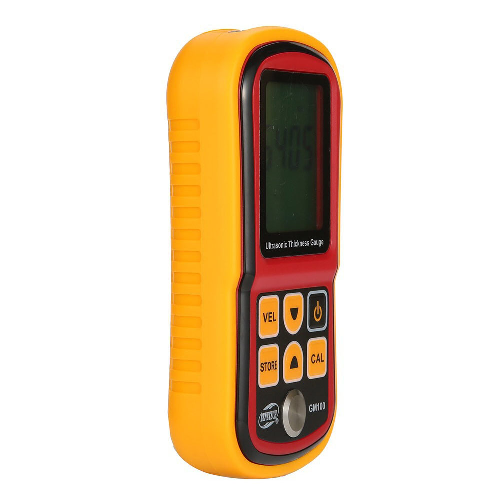GM100 Handhold Thickness Gauge Compact Accurate Tester Intelligent Ultrasonic Meter Digital Metal Sound Speed LCD Display|Width Measuring Instruments| |  - title=